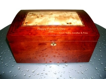 Personalized Humidors Large Domed Humidor