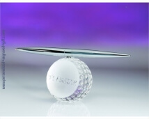 Engraved Crystal Golf Ball with Spinning Pen
