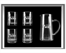 Engraved 5-Piece Water Pitcher Gift Set