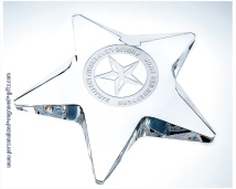 Personalized Pentagon Star Paperweight Award