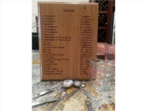 Engraved Wooden Kitchen Volume Plaque