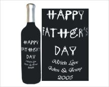 Engraved Wine Bottles - Fathers Day Tool Designs