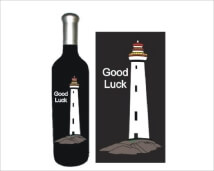 Engraved Wine Bottles - Lighthouse