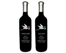 Engraved Wine Bottles - Stork 1