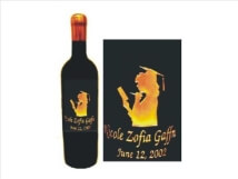 Engraved Wine Bottle - Girl Graduate