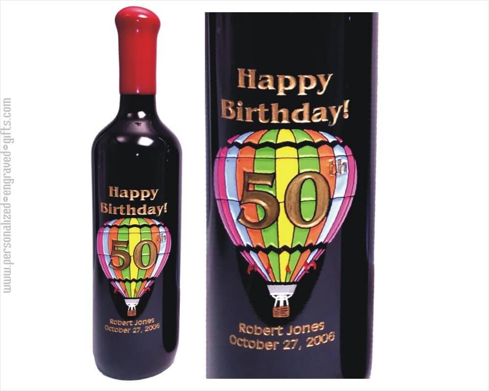 Engraved Wine Bottles For Birthdays Personalized Etched