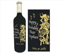 Engraved Wine Bottles - Jester