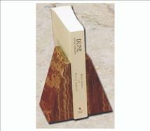 Engraved Bookends Amber Onyx Tapered Design