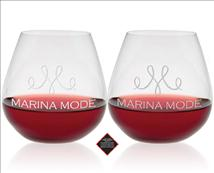 Custom Etched Riedel O Pinot/Nebbiolo Wine Glass