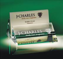 Slanted Business Card Holder with Name Plate