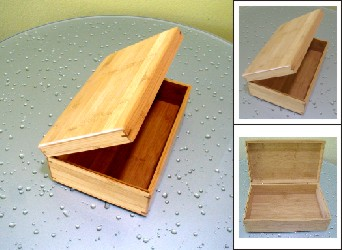 Deluxe Small Bamboo Hinged Gift Box