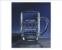 Customized Glass Beer Mug with Large Handle