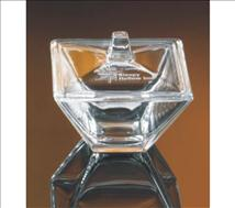 Engraved 5inch Square Topped  Candy Dish