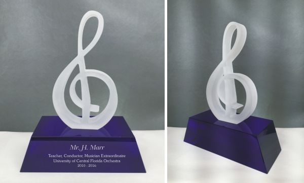 Engraved Music Award Treble Clef