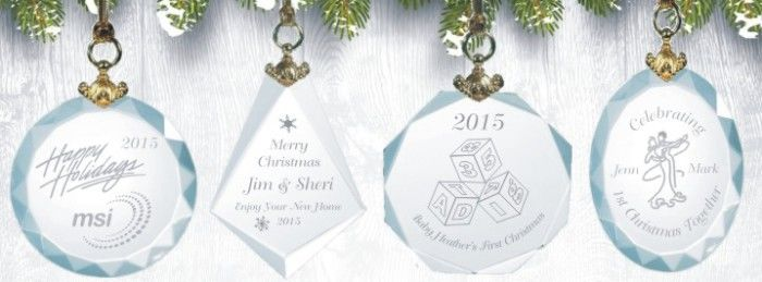 ornaments suncatchers personalized crystal holiday oranments - Crystal Christmas Decorations