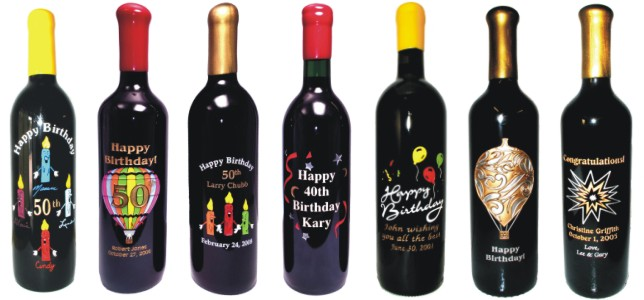 Engraved Wine Bottles For Birthdays Personalized Amp Etched