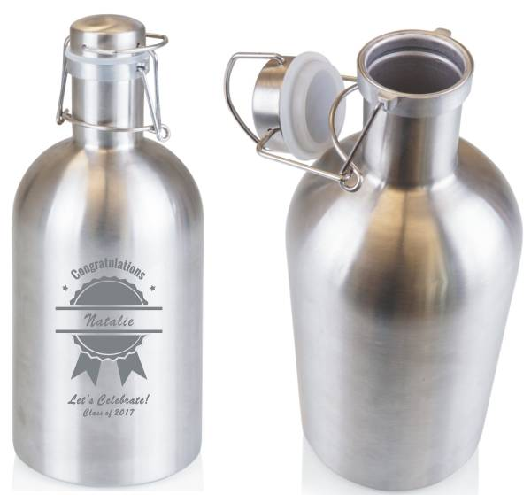 Beer Growler Stainless Steel and Personalized